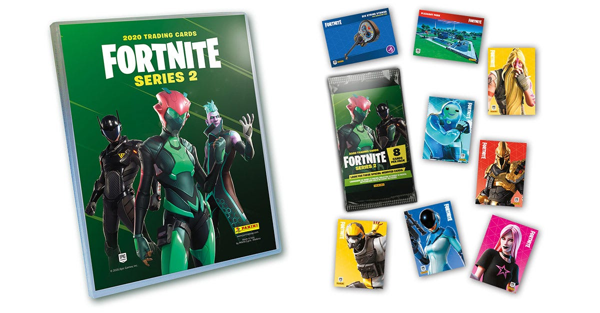 fortnite official trading card collection series 2 - panini