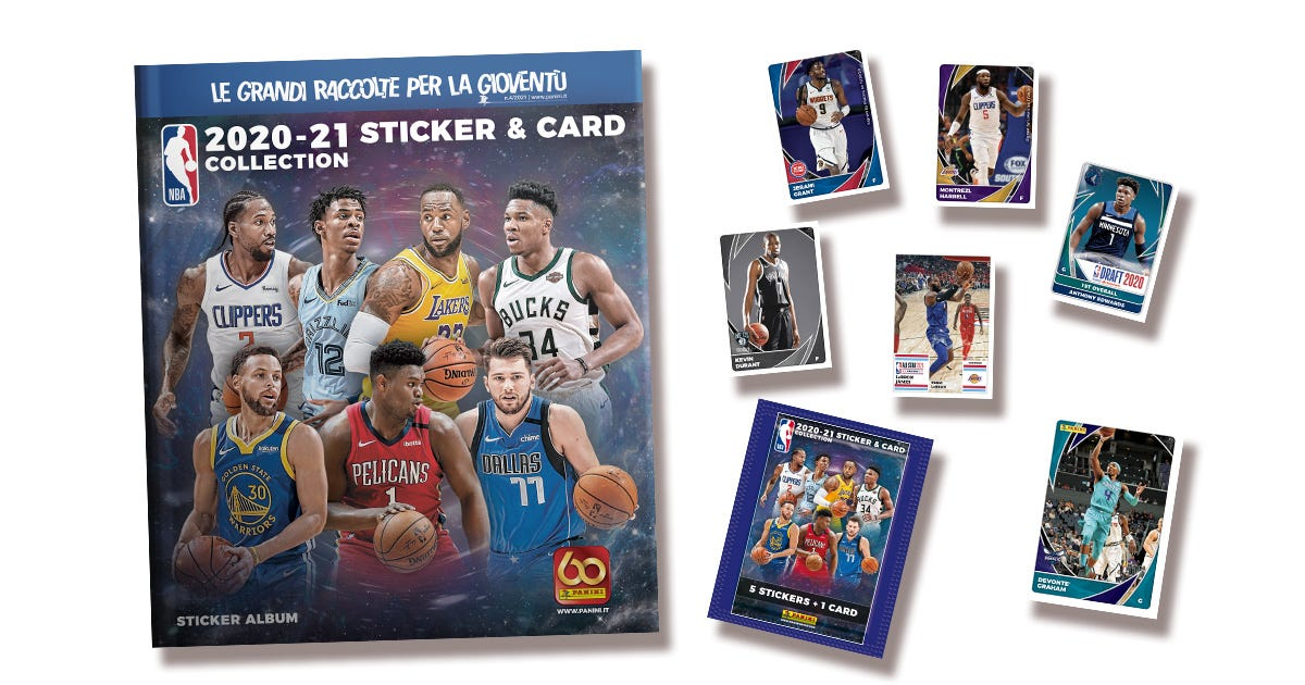 NBA 2020-21 STICKERS & TRADING CARDS