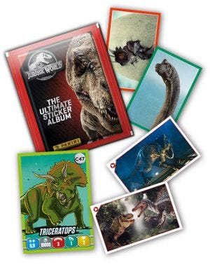JURASSIC WORLD – THE ULTIMATE STICKER ALBUM - Cartes manquantes