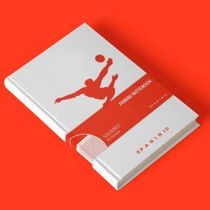 Agenda avec retourné acrobatique rouge