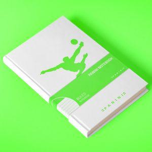 Agenda avec retourné acrobatique vert fluo