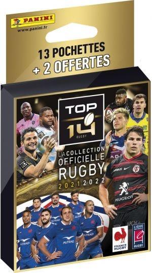 Rugby TOP 14 - Blister de 13 pochettes + 2 gratuites